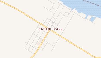 Sabine Pass, Texas map