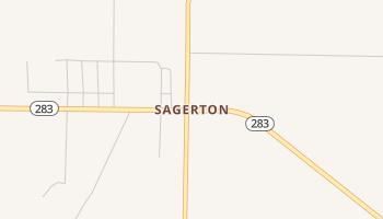 Sagerton, Texas map