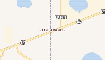 Saint Francis, Texas map