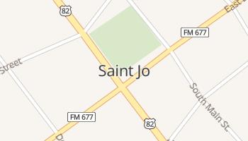 Saint Jo, Texas map