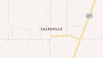 Salesville, Texas map