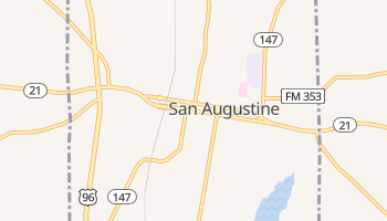 San Augustine, Texas map