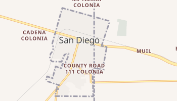 San Diego, Texas map
