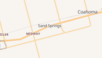 Sand Springs, Texas map