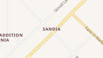 Sandia, Texas map