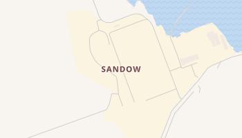 Sandow, Texas map