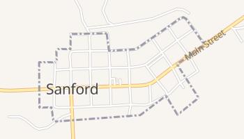 Sanford, Texas map