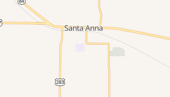 Santa Anna, Texas map