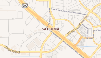 Satsuma, Texas map