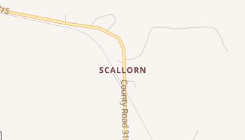 Scallorn, Texas map