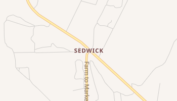 Sedwick, Texas map