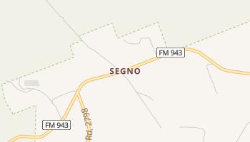 Segno, Texas map