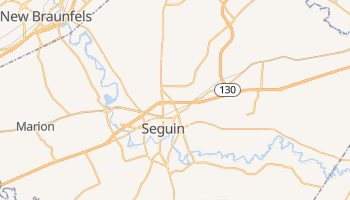 Seguin, Texas map