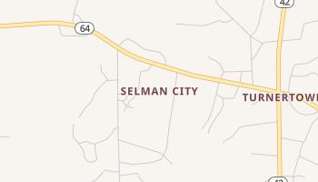 Selman City, Texas map