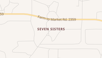 Seven Sisters, Texas map