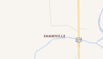 Shawville, Texas map