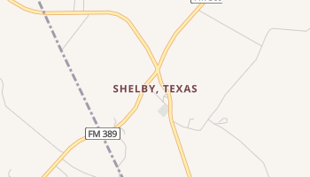 Shelby, Texas map