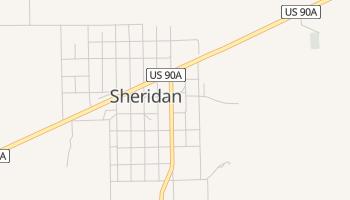Sheridan, Texas map