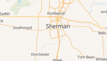 Sherman, Texas map
