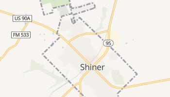 Shiner, Texas map