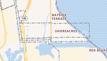Shoreacres, Texas map