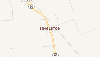 Singleton, Texas map