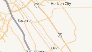 Socorro, Texas map