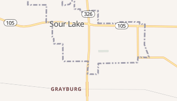 Sour Lake, Texas map