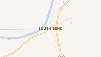 South Bend, Texas map
