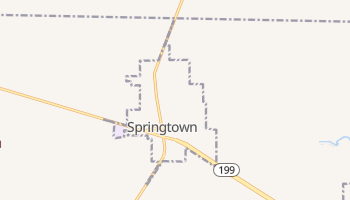 Springtown, Texas map