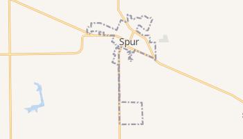 Spur, Texas map