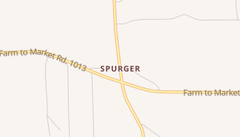 Spurger, Texas map