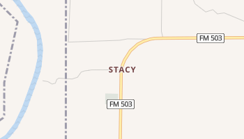 Stacy, Texas map