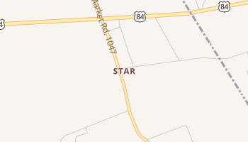 Star, Texas map