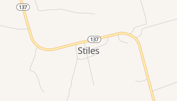 Stiles, Texas map