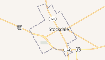 Stockdale, Texas map