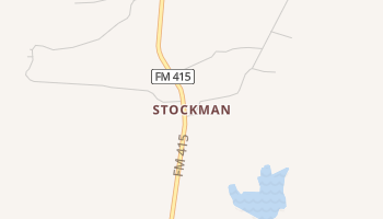 Stockman, Texas map