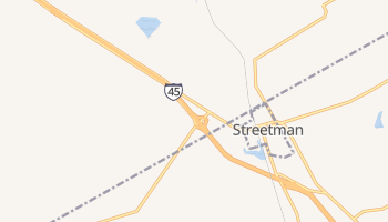 Streetman, Texas map
