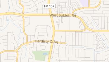 Sublett, Texas map