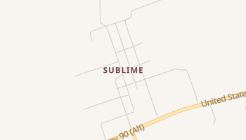 Sublime, Texas map