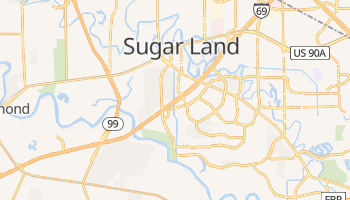 Sugar Land, Texas map