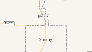 Sunray, Texas map