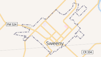 Sweeny, Texas map
