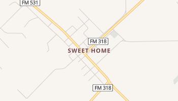 Sweet Home, Texas map