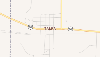 Talpa, Texas map