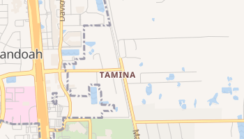Tamina, Texas map