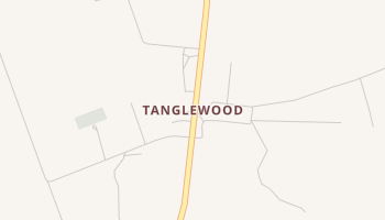 Tanglewood, Texas map