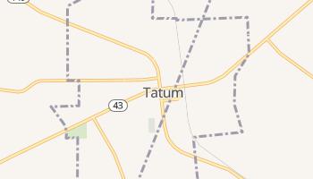 Tatum, Texas map