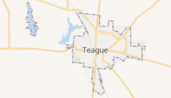 Teague, Texas map
