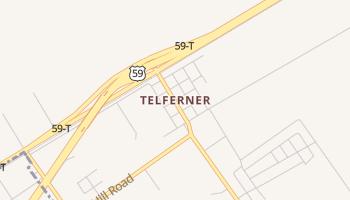 Telferner, Texas map